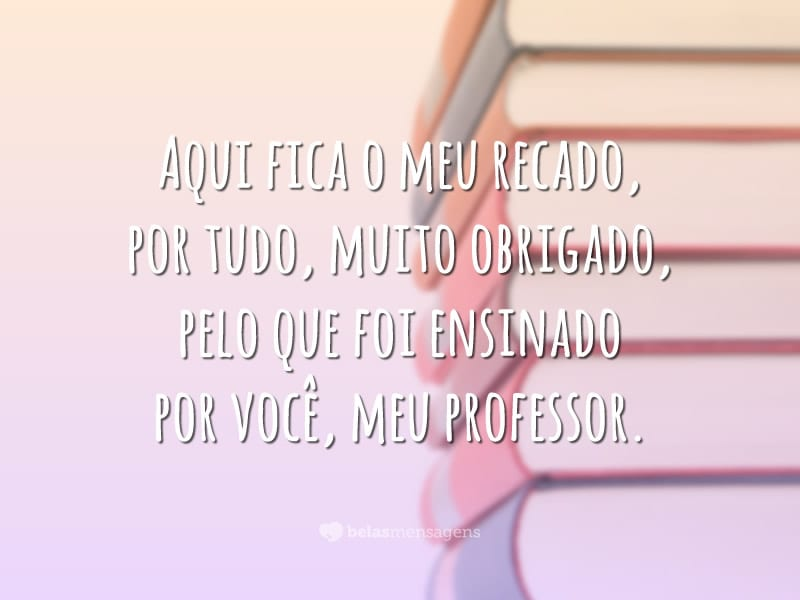 Poema ao professor