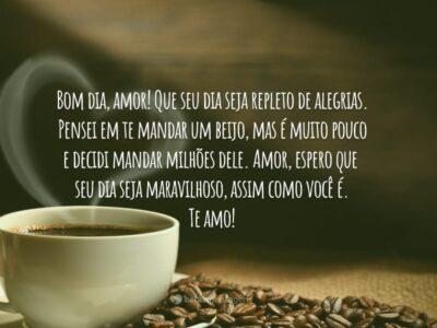 Bom dia, meu amor