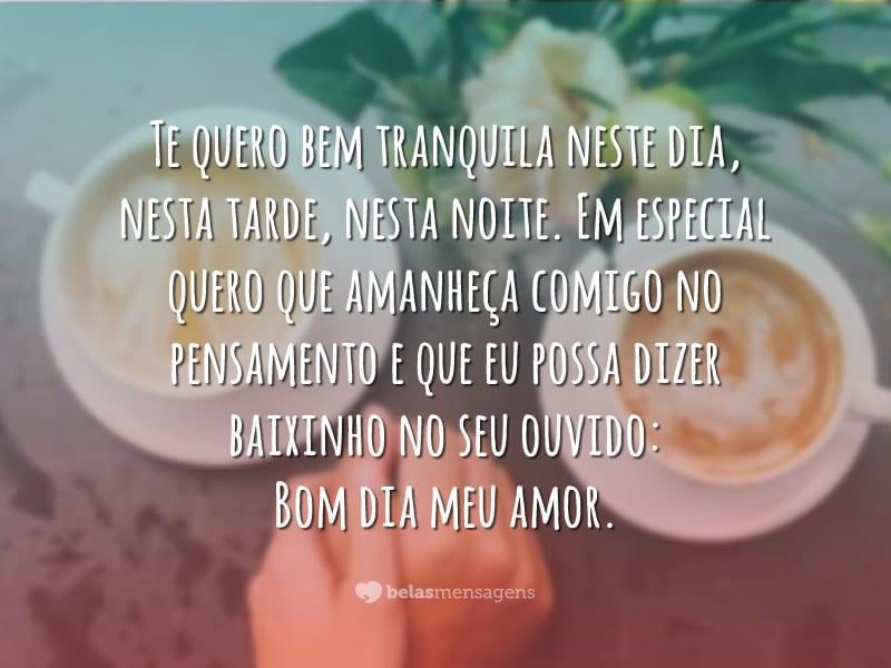 Bom Dia Romantico Para Celular: Melhor Sempre Frases Românticas De Bom Dia Para O Meu Amor