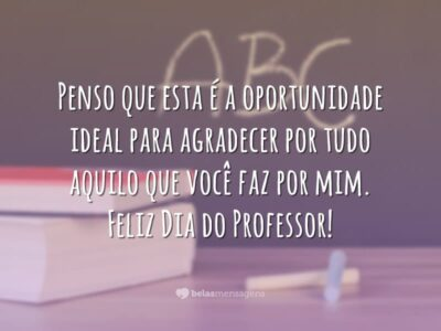 Carta ao professor