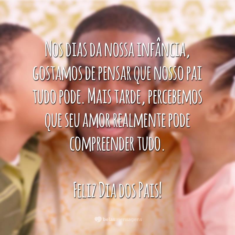 Feliz Dia dos Pais com muito amor