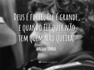 Frases e mensagens bonitas de grande Ayrton Senna