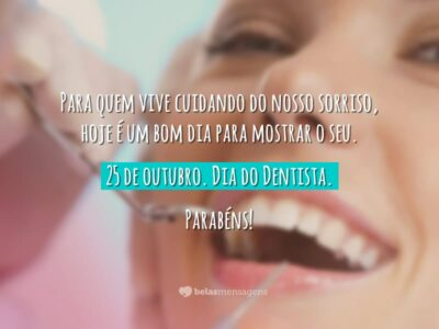 25 de outubro – Dia do Dentista