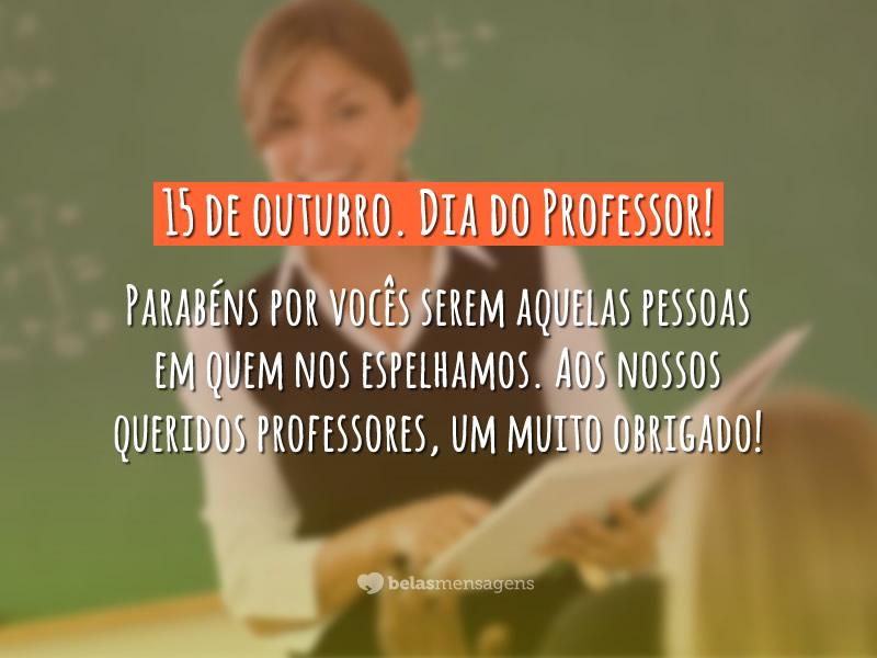 Parabéns professores!