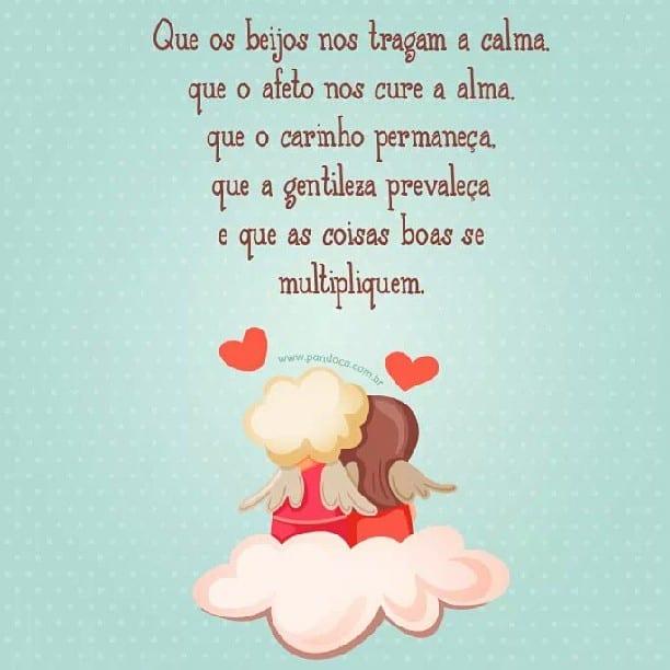 Que os beijos nos tragam a calma