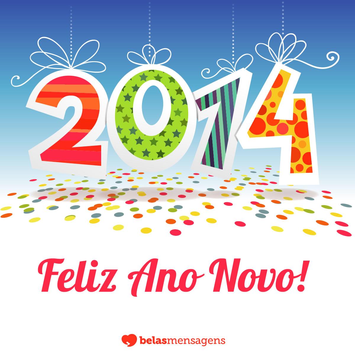 Mensagem de Feliz 2014