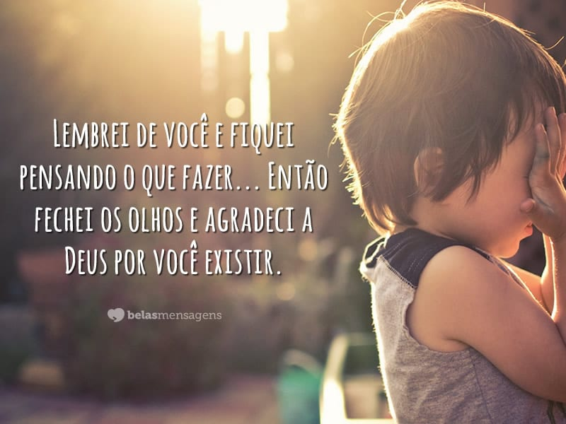 Lembrei de você