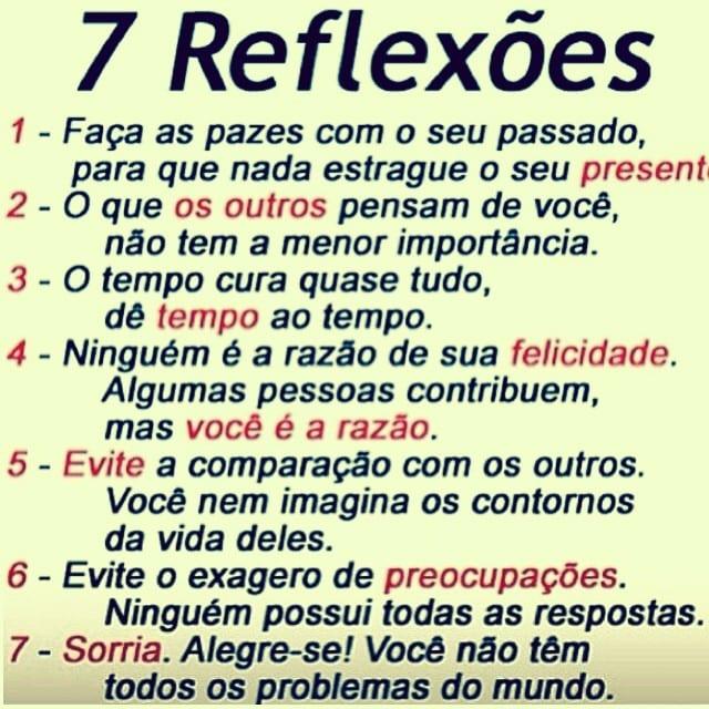 7 reflexões