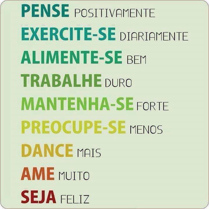 Pense positivamente