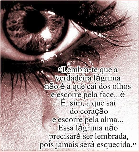 A verdadeira lágrima