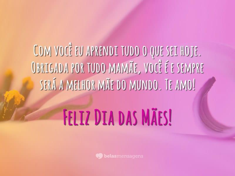 Obrigada por tudo mamãe