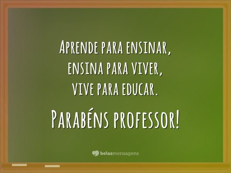 Frases Dia Do Professor Belas Mensagens
