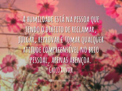 A humildade