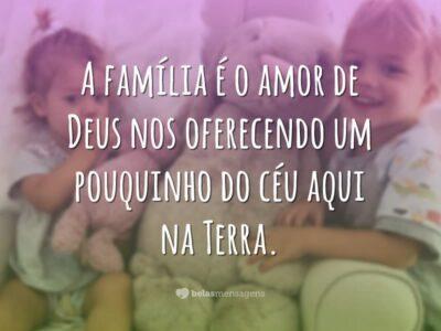 A família é amor