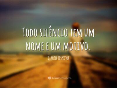 Razão do silêncio