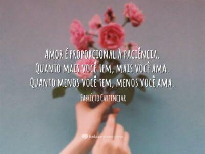 Amor é paciência