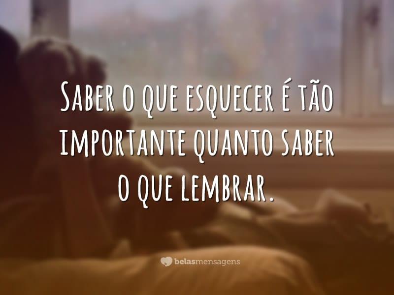 Saber esquecer