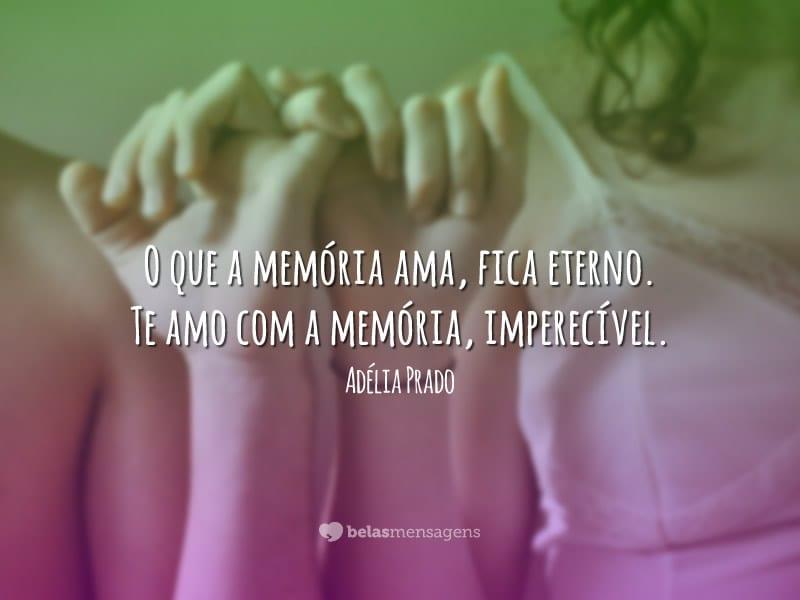 O que a memória ama