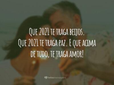 Que 2021 te traga beijos