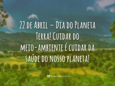 Frases De Dia Da Terra Belas Mensagens