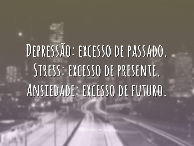 Depressão: excesso de passado