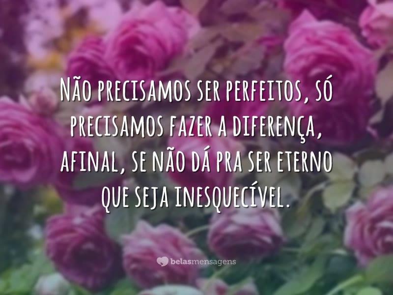 Não precisamos ser perfeitos