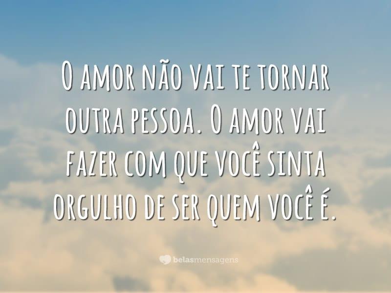 O amor não vai