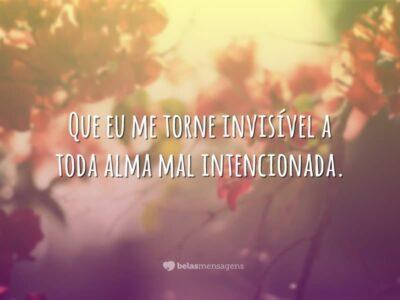 Que eu me torne invisível