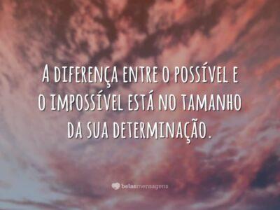 A diferença entre possível e impossível