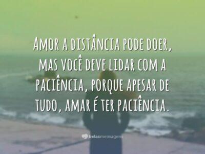 Amar é ter paciência