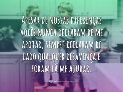 Apesar de nossas diferenças
