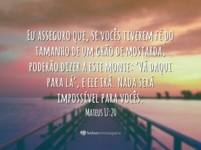 Nada será impossível