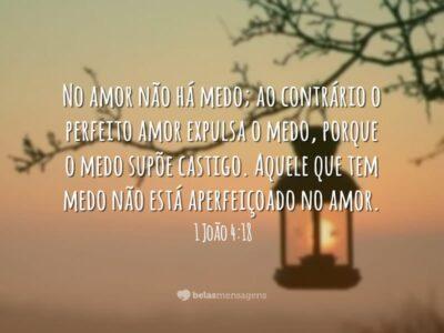 No amor não há medo
