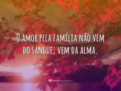 O amor vem da alma