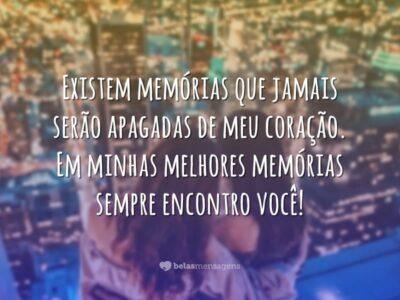 Existem memórias que jamais