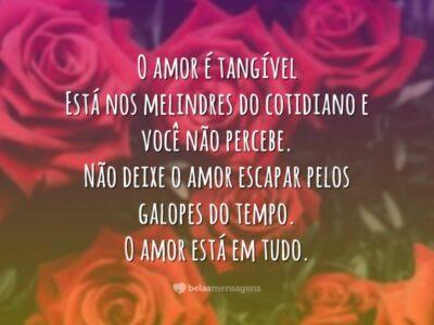 O amor é tangível