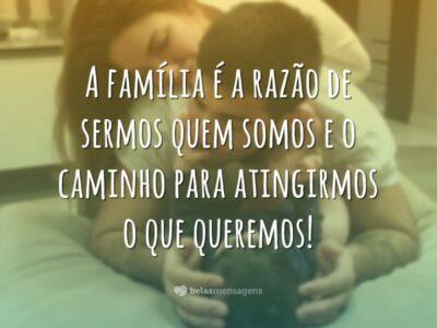 A família é a razão