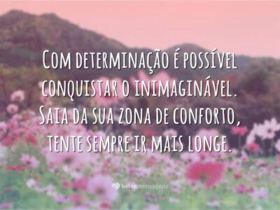 Com determinação é possível