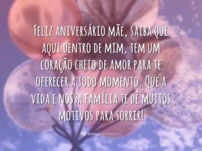 Feliz aniversário mãe