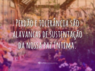 Perdão e tolerância
