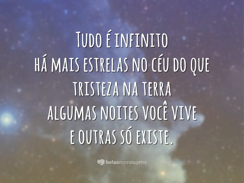 Tudo é infinito