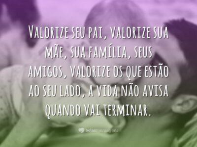 Valorize sua família