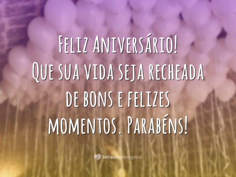 Feliz aniversário, felizes momentos