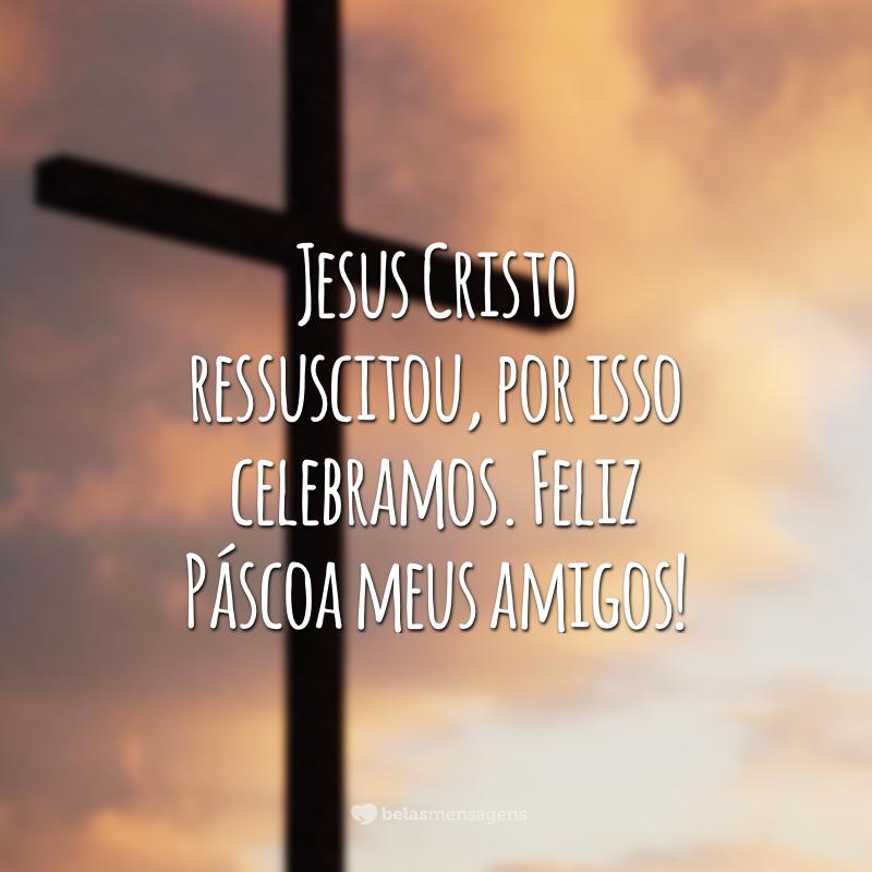 Jesus Cristo ressuscitou, por isso celebramos. Feliz Páscoa meus amigos!