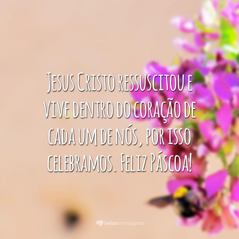 Jesus Cristo ressuscitou e vive dentro do coração de cada um de nós, por isso celebramos. Feliz Páscoa!