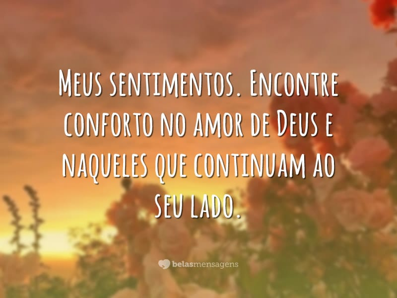 Encontre conforto no amor