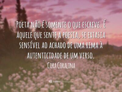 Frases De Cora Coralina Belas Mensagens