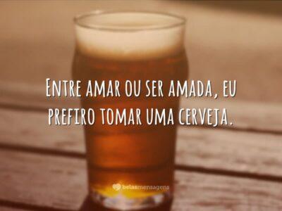 Prefiro tomar uma cerveja