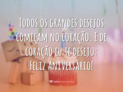 Te desejo feliz aniversário