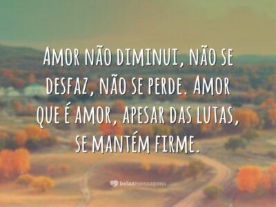 Amor não diminui